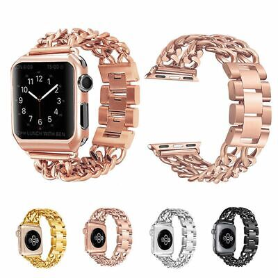 $ CDN15.66 • Buy For Apple Watch Series 6 5 4 3 2 Stainless Steel Bracelet IWatch Band Strap 44mm