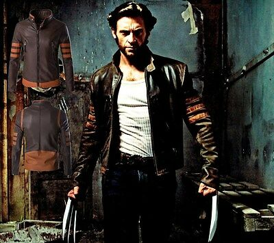 Wolverine Logans Leather Jacket Top Men's Collar PU Leather Outwear Stylish Coat • 48.63£