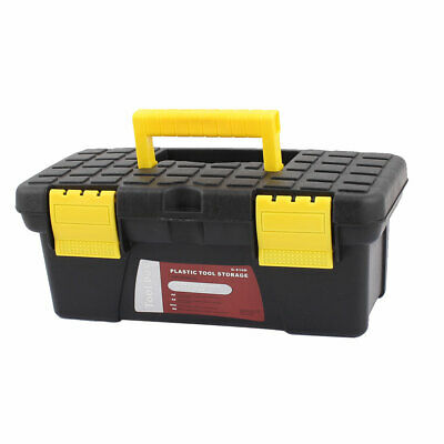 £11.50 • Buy Electrician Engineer Plastic Dual Layers Tools Storage Box Case Black Yellow