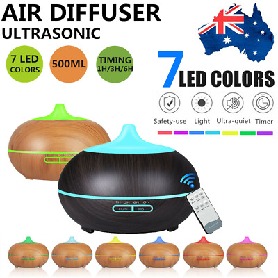 AU26.50 • Buy LED Aroma Aromatherapy Diffuser Ultrasonic Air Humidifier Purifier Essential Oil
