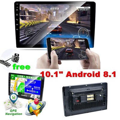 AU197.48 • Buy 10.1  Android 8.1 2 Din Car Stereo Radio Head Unit USB Camera Mirror Link GPS