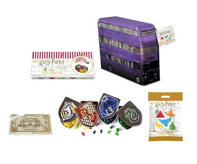 Harry Potter Sweets Bertie Botts Gift Box Houses Crest Tins Knightbus Candy Tin • 5.95£