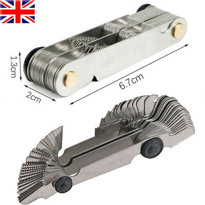 £5.99 • Buy Foldable Blade Screw Pitch Thread Gauge BSW Metric Nuts Bolts Thread Measure 52