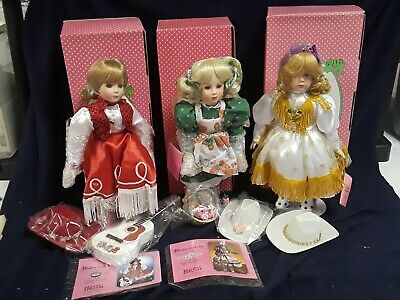 $ CDN42.88 • Buy Lot 3 Paradise Galleries Cowgirl Porcelain Dolls Delta Dawn Ruby Paper Roses