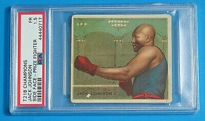 $125 • Buy 1910 T218 Champions Hassan JACK JOHNSON BOXING CARD Side Face ~ PSA 1.5
