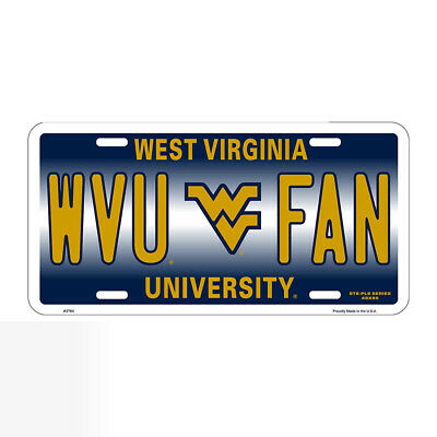 $ CDN18.13 • Buy New West Virginia University Mountaineers  WVU FAN  License Plate Tag