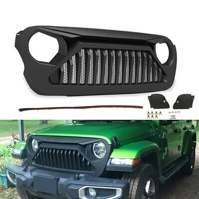 Front Grille Compatible For Jeep Wrangler JL 2018 2019 Bumper Mesh Grill • 99.99$