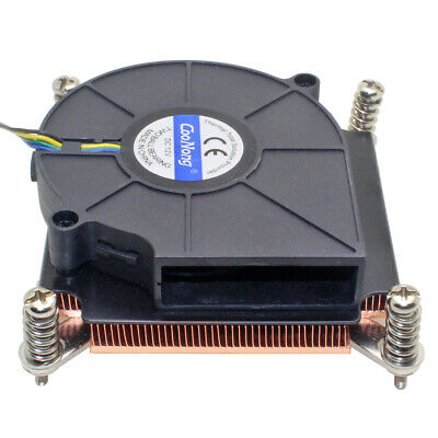 $ CDN41.67 • Buy 1U Server CPU Cooler Copper Heatsink Cooling Fan For Intel Xeon LGA 1366 1356