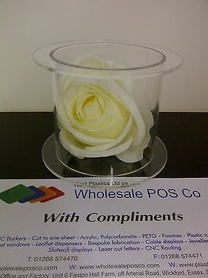 Acrylic Separator Wedding Cake Perspex Hollow Fillable Clear Display Stand • 25.73£
