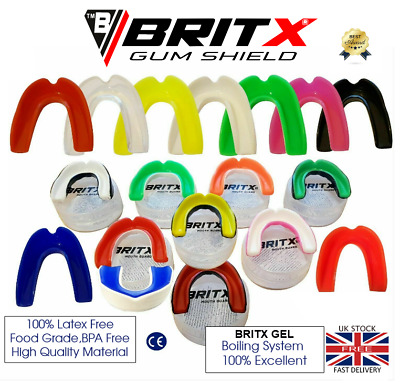£1.99 • Buy BRITX MMA Mouth Guard Teeth Protection Boxing Gum Shield Rugby Senior-Junior
