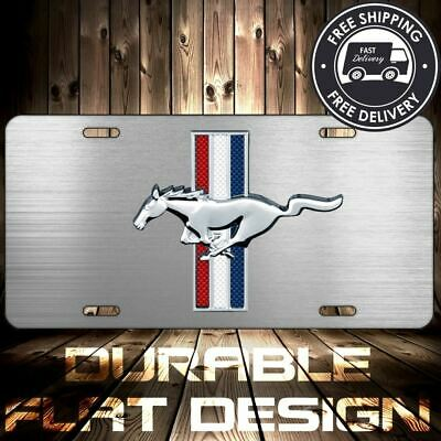 Ford Mustang Pony License Plate Patriotic GT V8 FLAT Metal Aluminum U CHOOSE IT • 13.77$