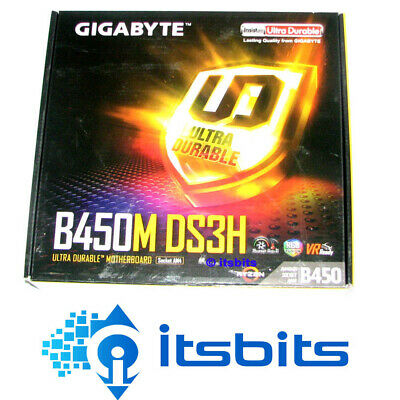 AU124.50 • Buy GIGABYTE B450M GAMING AMD AM4 MOTHERBOARD USB 3.1,  M.2, 2x RAM SLOTS HDMI DVI