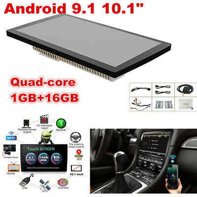 $125 • Buy Android 9.1 1+16G Car Stereo GPS Navigation Radio Player Double Din WIFI 10.1