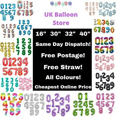 Giant Foil Number Self Inflating Balloons Birthday Age Party Wedding Balloon  • 3.49£