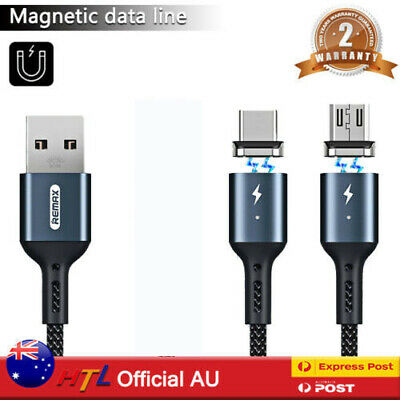 AU12.99 • Buy 【HTL】3in1 Fast Charging Cable Type C Micro Lightning Magnetic Head/Plugs IOS 7 8