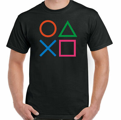£8.94 • Buy PlayStation T-Shirt Buttons Mens Funny Gaming PS3 PS4 PS5 Retro Controller Top