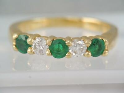 $685 • Buy GORGEOUS 18K SOLID GOLD 1ct  DIAMOND EMERALD RING SZ 8