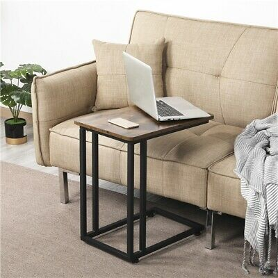 £27.59 • Buy End Table Industrial Sofa Table Side Table For Coffee Laptop Table Rustic Brown