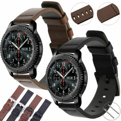 AU12.97 • Buy Genuine Leather Watch Band Wrist Strap Samsung Galaxy Gear S3 Frontier/Classic