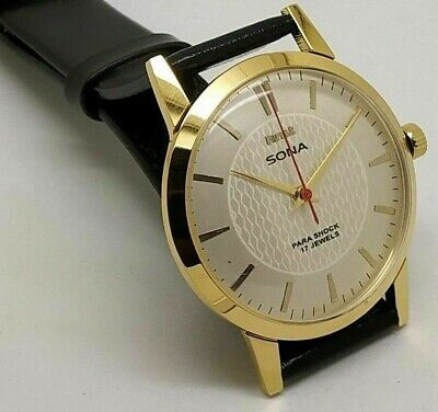 $ CDN19.97 • Buy Hmt Sona Hand Winding Men's Gold Plated White Dial 17 Jewels Vintage Watch