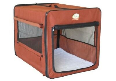 $78.85 • Buy Crate For Large Dog Brown Soft Side Portable Carrier Kennel Travel Cage GIFT