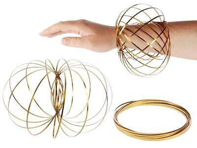 £1.75 • Buy 3D Magic Flow Ring Toys Funny Kinetic Spring Arm Slinky Juggle Dance Gold