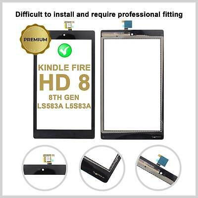 £8.99 • Buy Touch Screen Digitizer For Amazon KINDLE FIRE HD 8 8th Gen Glass Top Lens LS583A