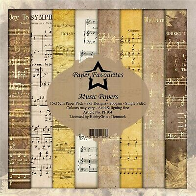£6 • Buy New Dixi Craft  Paper Favourites 15cm X 15cm Paper Pad Music Papers