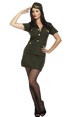 6/8/10 Sexy Army Girl Soldier Uniform Costume Hat 40s Ladies Fancy Dress Outfit  • 7.95£