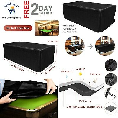 AU47.17 • Buy 9 Ft. Pool Table Cover, Waterproof Billiard Cover Polyester Fabric Snooker Table