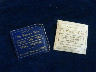 40013 Old Antique Vintage Gramophone Needle Tin Box Record Player Full HMV • 4.80£
