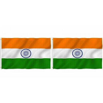 $8.64 • Buy 2-Pack India Indian Flag 3x5 Polyester Indoor Outdoor Flag National Country