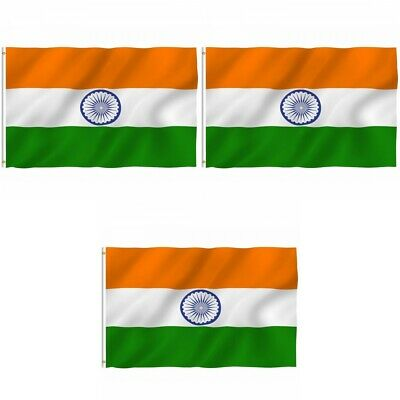 $11.54 • Buy 3-Pack India Indian Flag 3x5 Polyester Indoor Outdoor Flag National Country