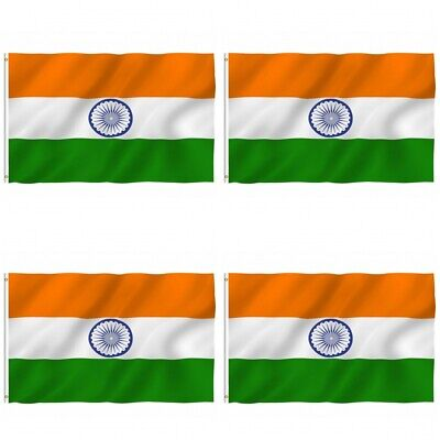 $14.24 • Buy 4-Pack India Indian Flag 3x5 Polyester Indoor Outdoor Flag National Country
