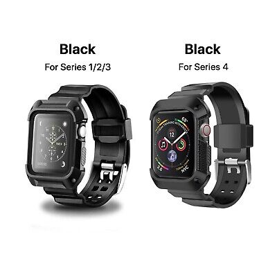 AU16.99 • Buy Shockproof For Apple Watch IWatch Band Strap Case 38 42 40 44 Series 1 2 3 4 5 6
