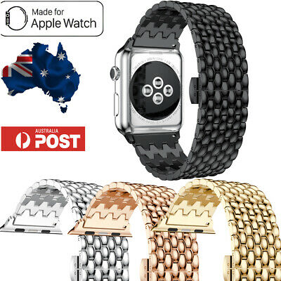 AU15.99 • Buy Apple Watch Band Series 6 5 432 Stainless Steel Metal IWatch Band Strap Bracelet