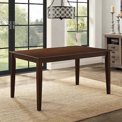 Solid Wood Dining TABLE ONLY Rectangular 6 Person Classic Dining Kitchen Brown • 151.95$