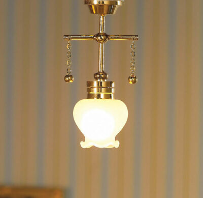 1/12 Scale Dolls House Emporium Hanging Ceiling Light With Shaped Shade 12V 7200 • 9.99£