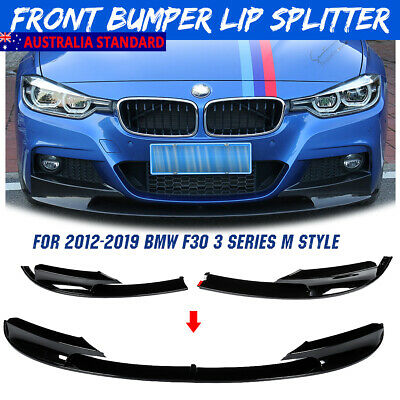 AU78.99 • Buy For 2012-18 BMW F30 3 Series Sedan M Sport Bumper Performance Front Lip Splitter