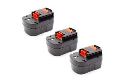 3x BATTERY 1500mAh Ni-Mh For Black & Decker FS12PSK / FSD122 / A12 / A12EX / A12 • 41£