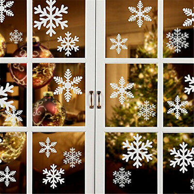 Snowflake Stickers Decorations Christmas Tree Charms Window Decal Ornaments Xmas • 3.08£