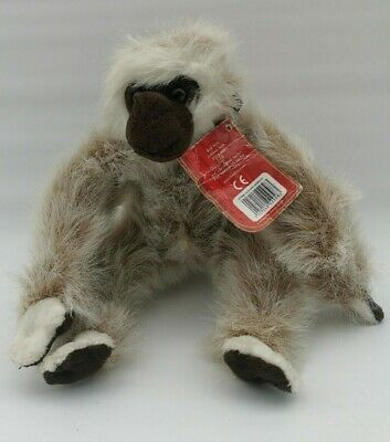 Monkey Chimp Soft Plush Long Fur Brown White 9.5  Tall  By Keel Toys Tags UNUSED • 9.99£