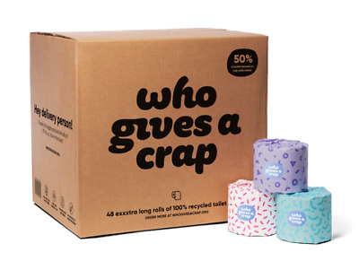 AU49.50 • Buy Who Gives A Crap | 3ply 100% Recycled Toilet Paper (Buy In Bulk & Save)