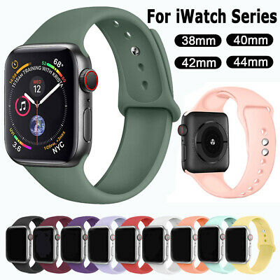 $ CDN3.27 • Buy Silicone Sports Band Strap For Apple Watch Series 5 4 3 2 IWatch 38/42mm 40/44mm