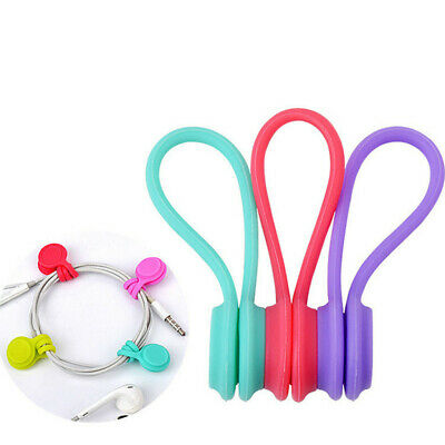 £3.66 • Buy Reusable Magnetic Cable Ties Cord Organizers, Strong Magnetic Twist Ties