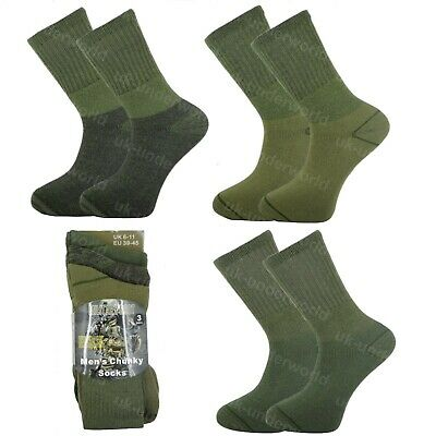 £5.45 • Buy Mens Military Socks 3 Pairs Army Thermal Hiking Boots Walking Combat Warm 6-11