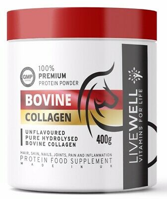 £18.99 • Buy Hydrolysed Collagen Protein Powder 400g - Hair, Nails, Muscles, Inflammation