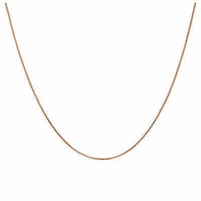 £8.65 • Buy Rose Gold Plated Sterling Silver Adjustable Slider Box Chain