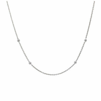 Sterling Silver 16 Inch Bobble Ball Chain Necklace • 8.85£