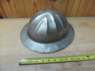 Vintage B.F. McDonald Aluminum Hard Hat Helmet Full Brim Construction • 24.99$